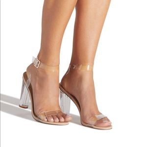 NWBox Shoedazzle Hanna Transparent Heel